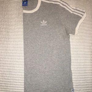 Adidas 3 Stripe T shirt